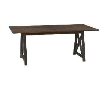 Crate & Barrel Expandable Dining Table