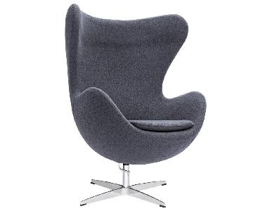 Manhattan Home Design Egg Style Lounge Chair Replica