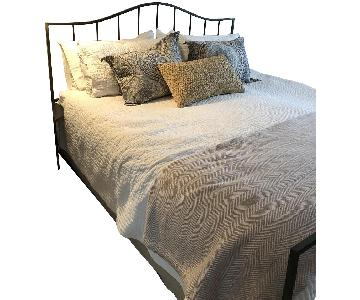 Crate & Barrel Monet Style Black Metal King Size Bed