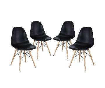 Manhattan Home Design Modern Molded Plastic Side Chairs