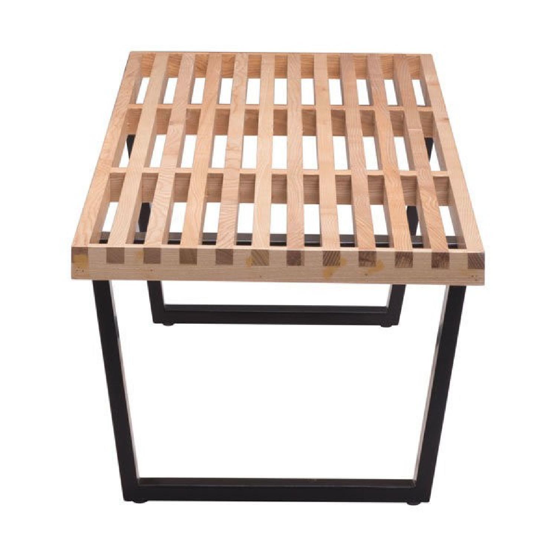 Incredible Manhattan Home Design Nelson Bench Replica Aptdeco Andrewgaddart Wooden Chair Designs For Living Room Andrewgaddartcom