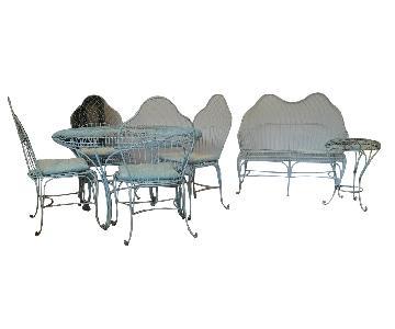 Grange Wrought Iron 5-Piece Garden/Patio Dining Set