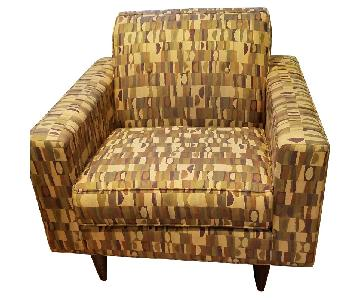 Mid Century Modern Patterned Chair