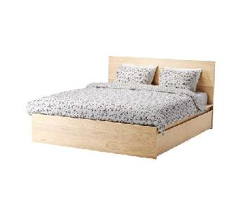 Ikea Malm Full Storage Bed w/ Removable Storage Drawers