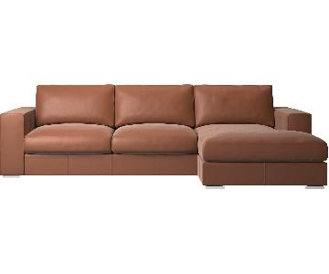 BoConcept Leather 2-Piece Sectional Sofa w/ Chaise