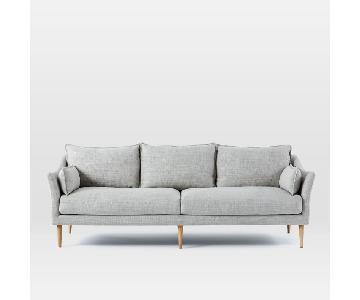 West Elm Antwerp Sofa in Light Grey