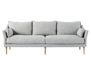 West Elm Antwerp Sofa in Light Grey