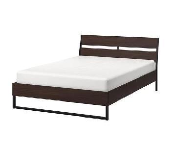 Ikea Trysil Dark Brown Full Size Bed Frame