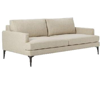 West Elm Andes Sofa in Stone Twill