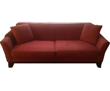 Pottery Barn Cardinal Red Sofa