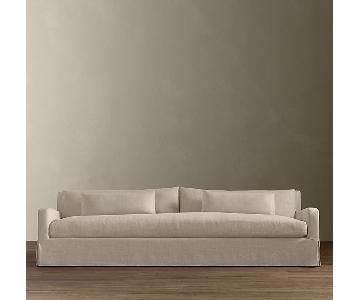 Restoration Hardware Belgian Slope Arm Slipcovered Sofa