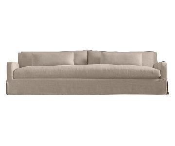 Restoration Hardware Belgian Slope Arm Slipcovered Sofa