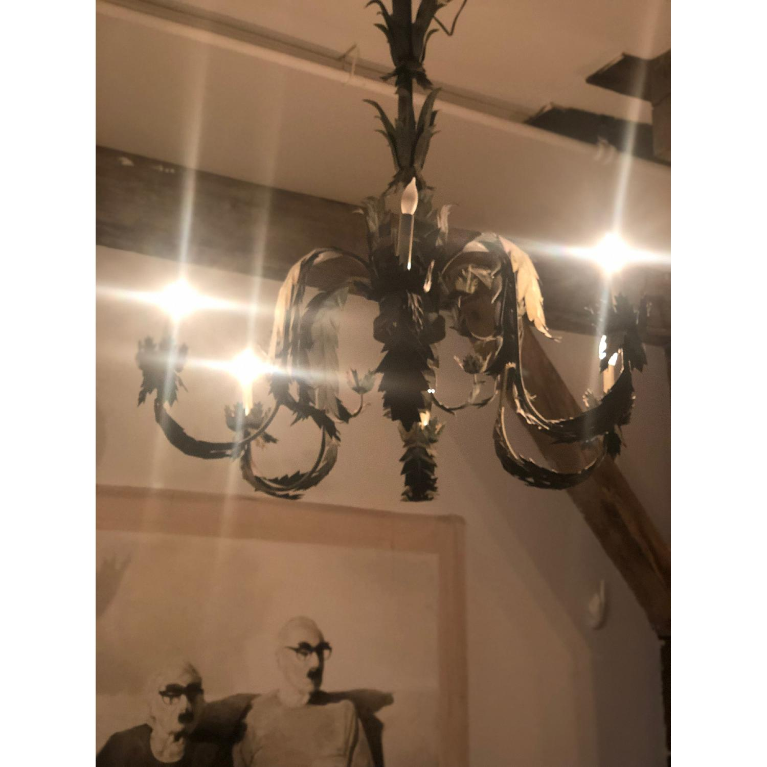 Antique Iron Leaf Chandelier