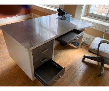 Vintage White Desk