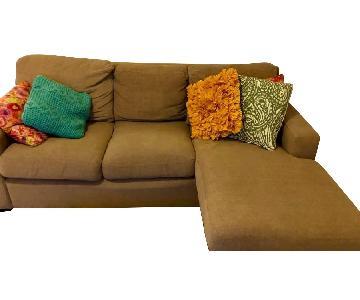 Jennifer Convertibles Sectional Sofa w/ Chaise