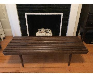 Vintage Wood Slat Bench