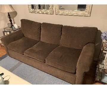 Room & Board Chocolate Brown Sofa
