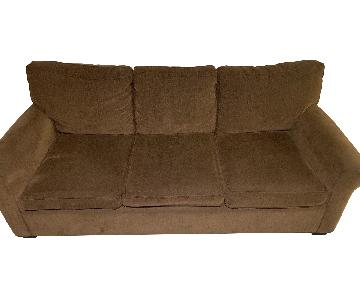 Room & Board Chocolate Brown Sofa