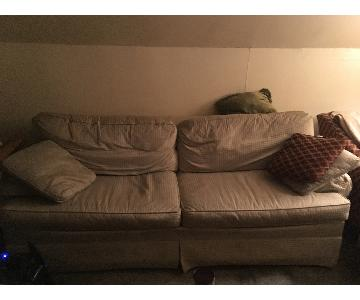 Ethan Allen Slipcovered Sleeper Sofa