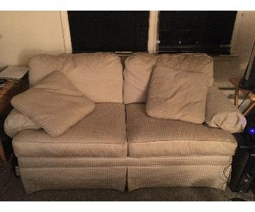 Ethan Allen Slipcovered Loveseat