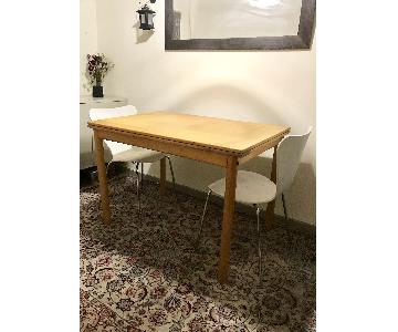 Arango Design Maple Extendable Dining Table