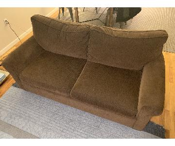 Room & Board Chocolate Brown Loveseat