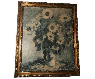 Vintage Large Still Life Gold Gilt Wood Frame