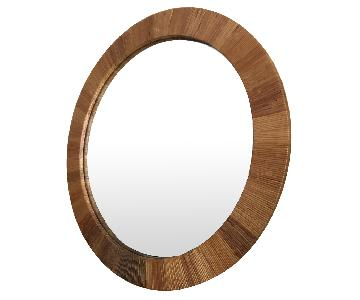 Bielecky Brothers Mid Century Modern Wrapped Cane Mirror