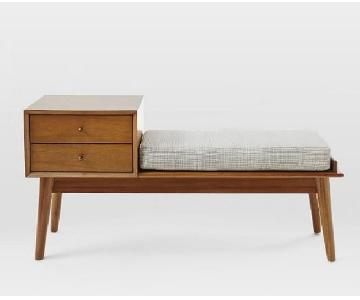 West Elm Mid-Century Storage Bench in Acorn