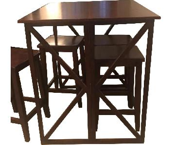 Target Folding Pub Table w/ 4 Bar Stools