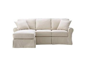 Mayfair 2 Piece Classic Natural Sectional Sofa w/ Chaise