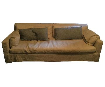 Restoration Hardware Down Filled Sofa & Ottoman
