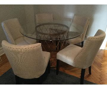 Restoration Hardware Upholstered Dining Chairs