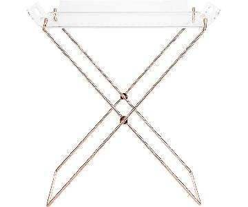 CB2 Acrylic Clear Tray Table