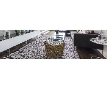Stark Carpet Brown/Cream Patterned Wool Blend Area Rug