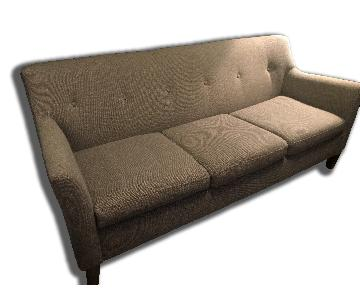 Better By Design Modern Tufted Back Sofa in Tweed Grey