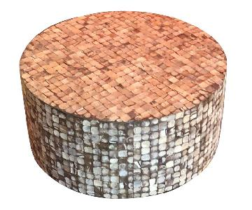 Coconut Shell Coffee Table