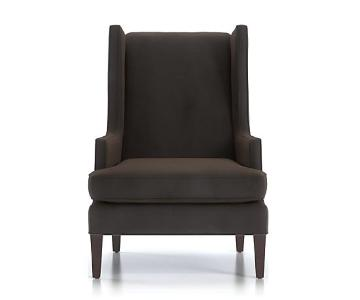Crate & Barrel Luxe Wingback Chair
