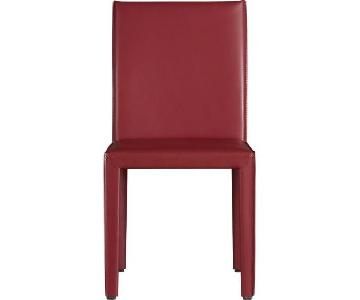 Crate & Barrel Folio Red Leather Dining Chair