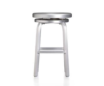 Crate & Barrel Swivel Stool w/ Seat Cushion