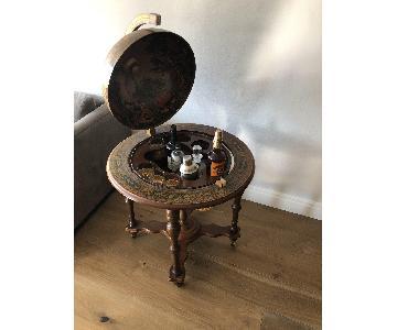 Antique Italian Rotating Globe Bar