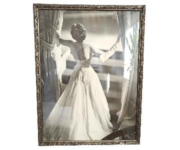 Vintage Lady of the Manor Print Professionally Framed