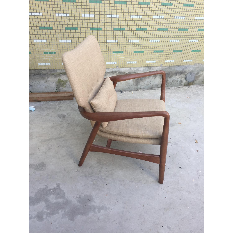 Mid Century Danish Modern Walnut Lounge Arm Chair - image-2
