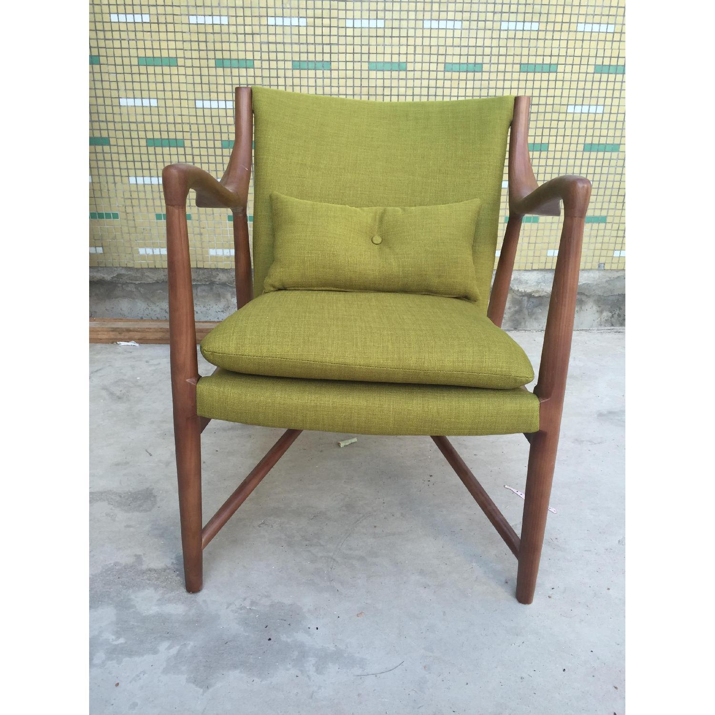 Mid Century Danish Modern Walnut Lounge Arm Chair - image-1