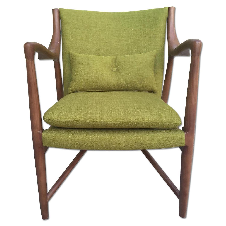 Mid Century Danish Modern Walnut Lounge Arm Chair - image-0