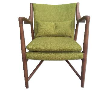 Mid Century Danish Modern Walnut Lounge Arm Chair