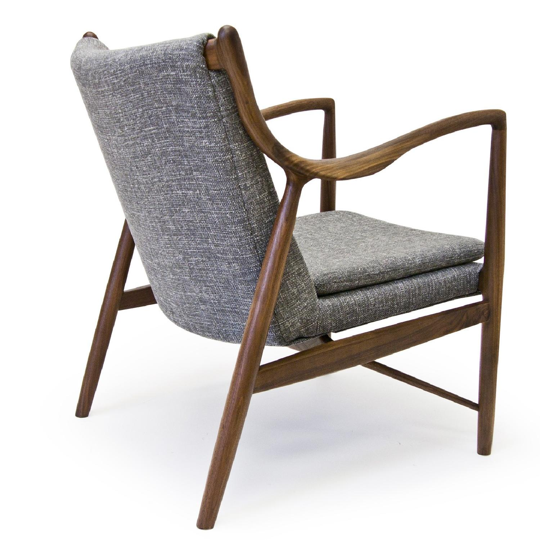 Mid Century Danish Modern Walnut Lounge Arm Chair - image-3