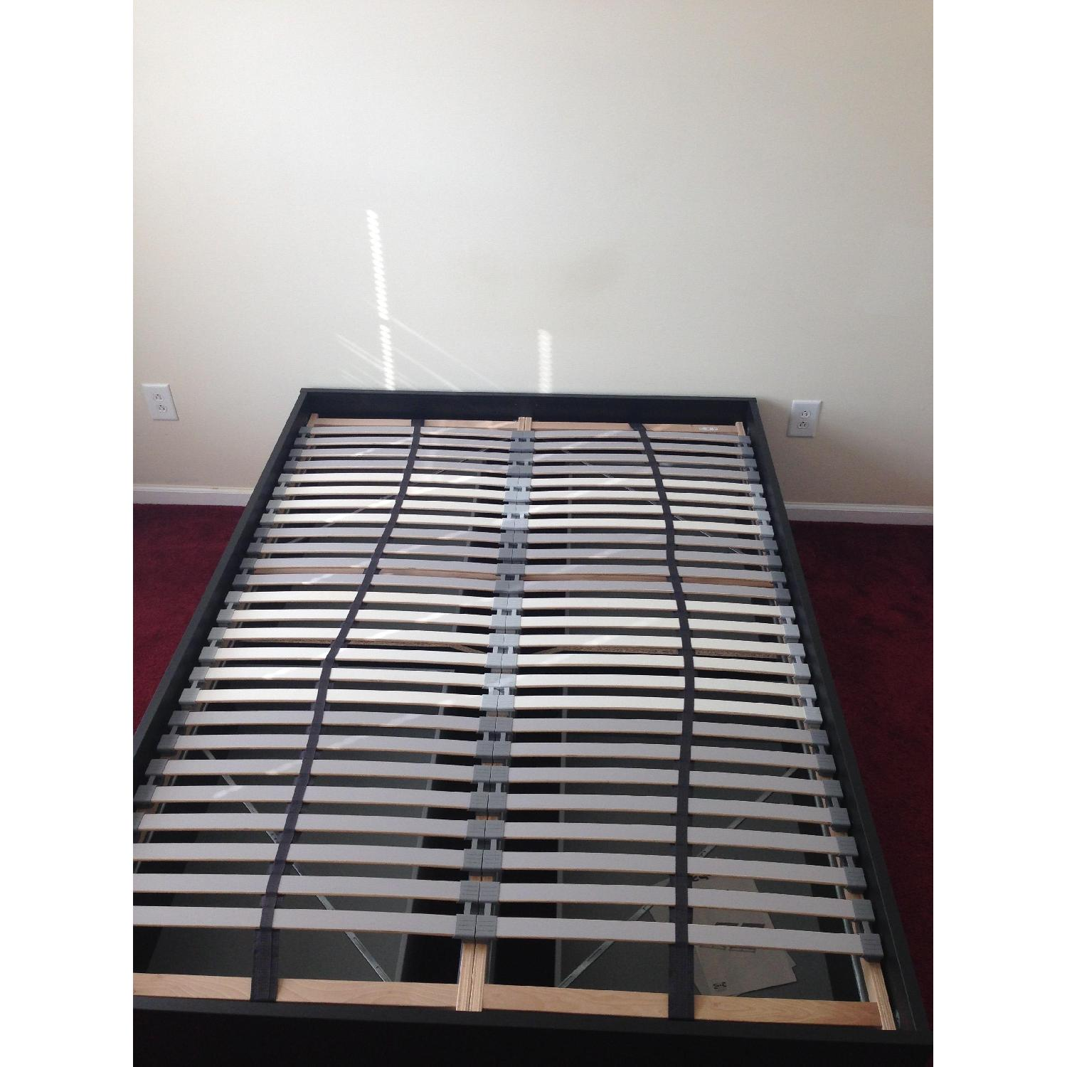 Ikea Brimnes Captains Full Size Bed w/ 4 Drawers - image-2