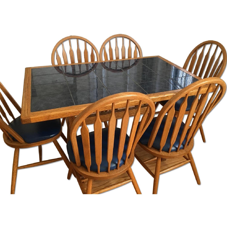 Sapphire Tile 7 Piece Dining Set - image-0