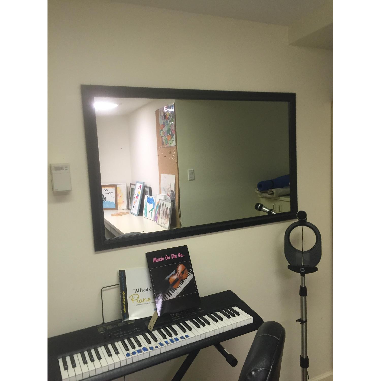 Black Rectangle Mirror - image-1